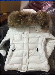 Wholesale Duck Down Long Coats - HERMIFUR Brand Jacket parkas for women winter long jackets anorak woman coats with real raccoon fur hood parka luxury jackets