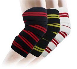 2pcs environ 2.0m * 8cm poids levage elastique genou bandages jambe compression veau soutien enveloppe sport squats courroie de formation ? partir de fabricateur