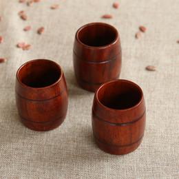 Wholesale Wood Barrels Beer - Wood Cup Primitive Hand Made Natural Barrel Type Beer Milk Tea Coffee Mug Friendly Drinkware IC675