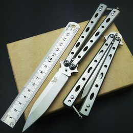 Wholesale Practice Balisong - benchmade knives butterfly balisong knifes fixed blades italian stiletto knife CS GO infide automatic Top Knifes Lotus Practice knifes