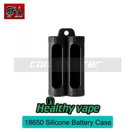 Wholesale E Cigarette Battery Cover - Original Coil Master Battery Case Coil Master 18650 Battery Silicone Case Cover 2 3 4 Bay E Cigarette Battery Protector