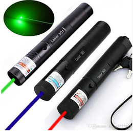 Wholesale Focus Pens - Adjustable Focus Burning Green Laser Pointer Pen 301 532nm 405nm 650nm Continuous Line 500 to 10000 meters Laser range Battery Not Included
