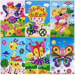 Wholesale Eva 3d Foam Stickers - L EVA Foam Mosaic Sticker Painting Kids Children Kindergarten 3D Puzzles DIY Crafts Toys -10PCS Different