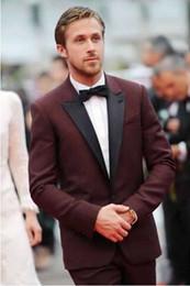 Wholesale Maroon Jacket - Maroon Tuxedo Jacket,Dark Burgundy Men Wedding Suit,Custom Made Burgund Men Suit