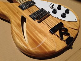 Wholesale Electric Guitar Ricken - Custom Delxue Ricken 360 12 String Electric Guitar Natural Finished, Semi Hollow Body,Maple Neck, Triangle MOP Fingerboard Inlay