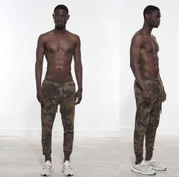 Wholesale High Waist Bootcut Legging - Wholesale-NEW TOP Justin bieber Desert Camouflage Leg zipper Casual pants hiphop high street brand clothing fog fashion pants joggers
