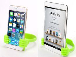telefono de mano flexible Rebajas Universal Car Desktop Stand Mount Thumb Hand Holder para teléfono celular Tablet Lazy Flexible Tablet Phone Holder Desktop