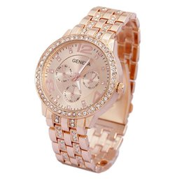 Wholesale Ladies Crystal Fashion Watch - 2017 New Geneva Hot Sale Luxury Geneva Brand Crystal watch women ladies men fashion dress quartz wrist watch Relogios Feminino