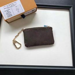 Wholesale Purse Clutch Boxes - Fashion Designer Clutch Women Purse Brand Key Pouch Zip Wallet Coin Leather Wallets Women Designer GC#38 Short Purse With Box 62650