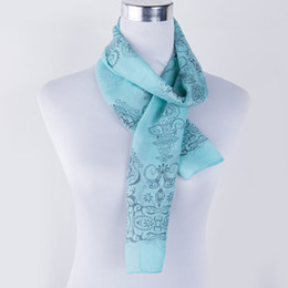 Wholesale Thin White Scarf - Wholesale-2016 New High quality Blue and White Porcelain Style Thin Section the Silk Floss Women Scarf Shawl