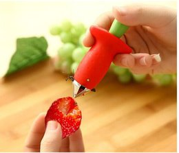 Wholesale Metal Stems - new Strawberry Tomato Stem Leaves Huller Remover Removal Fruit Corer Kitchen Tool