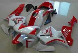 Wholesale Motorcycle Race Fairing Kits - 4 Free Gifts New ABS Plastic Full motorcycle Fairing Kit 100% Fit For Honda CBR600RR F5 03 04 2003 2004 CBR600 Bodywork set red white Racing