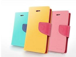 Wholesale G E Lights - Free DHL Mercury Wallet leather PU TPU Hybrid Soft Case Folio Flip Cover for Motorola Moto G G2 E X Nexus 6 with Package