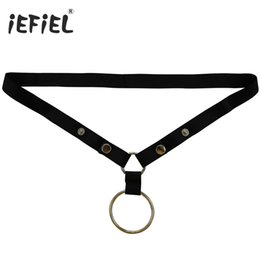 Wholesale Mens Pink G String - iEFiEL Brand Mens Metal O-Rings G-strings Tongs Lingerie Men's Underwear Sexy Underpants for Men With Metal Rings