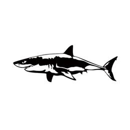 2019 tubarão de vinil 2017 Venda Quente Grande Tubarão Branco Vinyl Decal Janela Do Carro Adesivos de Carro Fish Jaws Acessórios Do Carro Jdm desconto tubarão de vinil