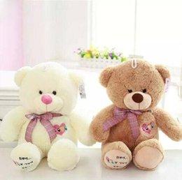 Wholesale Children Toys Korea - Korea Teddy Bear Baby Bear plush toy doll children Stuffed toy birthday Christmas gift