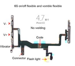 Wholesale Iphone Off - Original Power Switch ON OFF Button Flash Light Mic Vomule Flex Cable Ribbon For iPhone 6S 6S PLUS Replacement Part