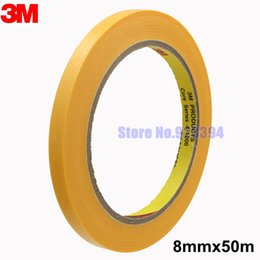 Wholesale Paint High Temperature - Wholesale- 2016 3M 244 8mmx50M High Temperature Masking Tape For Automotive Car Painting Refinish And Electronic Protection Masking Freesh