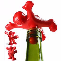 Neueste Neuheit Bar Werkzeuge Wein Korken Flasche Stecker Lustige Glücklicher Mann Guy Wein Stopper Perky Interessante Geschenke DH011 von Fabrikanten