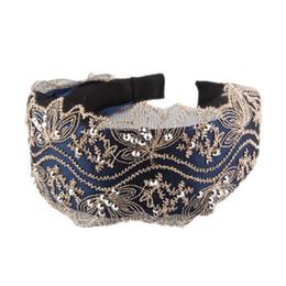 Canada Cerceau de diamant large creuse de tissu de broderie de dentelle exquise de mode avec des cheveux de femmes en gros Offre
