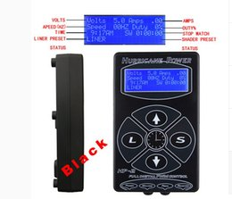 Wholesale Red Clip Cord - Solong tattoo Tattoo Power Supply Digital LCD Display With Foot Pedal & Clip Cord Black Silver Red White Color P139