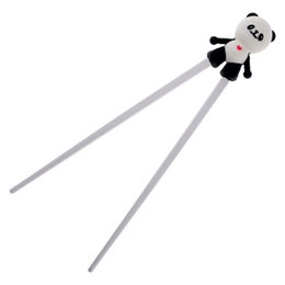 cartoon training Coupons - Wholesale- 1 Pair Silicone Cartoon Panda Helper Chopstick Children Baby Learning Training Chopsticks Beginner Easy Use palillos chinos