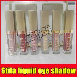 Wholesale Glowing Natural Makeup - 2017 Makeup Shimmer Glow Glitter Glow Stila 6 Color eye shadow set Stila Eye For Elegance Set Liquid Free Shipping