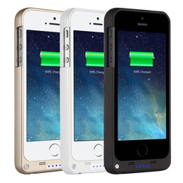 Wholesale Portable Charger Cases - External backup battery charger case for iphone 5 5s, backup battery 2200mAh portable power bank 2200mah rechargeable battery case