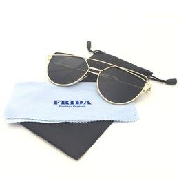 Wholesale Occhiali Da Sole Sunglasses - Wholesale-FRIDA 2016 Fashion Women Sunglasses Brand Designer Metal Ultralight Vintage Men Sun Glasses Round Occhiali da sole