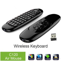 Wholesale Usb Remote Keyboard Mouse - C120 T10 Mini 2.4G Wireless Keyboard With Microphone Voice Air Fly Mouse Fashion Remote Sensing Gaming Mouse Keyboard For Android TV BOX
