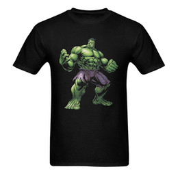 Wholesale Incredible New - Cotton Graphic Tee Print The Incredible Hulk Adult 2017 new High Quality 100% Cotton men's T Shirt cheap sell Free shipping