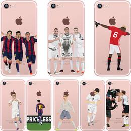 Pintura de borde online-Casos de pintura de fútbol de moda TPU suave claro para Samsung Galaxy S8 Plus S6 S7 EDGE J5 J7 Prime Iphone 7 6S Plus