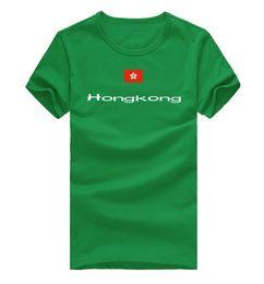 Wholesale Modern Men Shirts - Hongkong T shirt City sport short sleeve Cheer modern tees Nation flag clothing Unisex cotton Tshirt