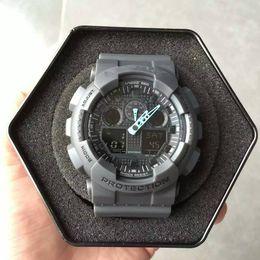 Wholesale Nude Back - Wholesale Hot Sale LED Display G Style Shock Watch Waterproof Military Army Digital Watch Relogios Swiming Back Light Alarm Sport Clock Saat