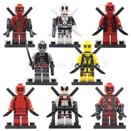 Wholesale Ninja Bricks - Super Heroes Ninja Deadpool Figure City Series SY617 DC Marvel Building Blocks Set Model Bricks Toys For Children