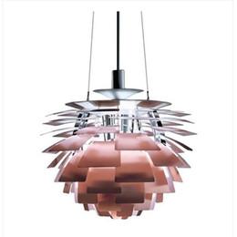 Wholesale Chandelier Artichokes - Dia 38 48cm Modern PH Artichoke Pendant Lamp Chandelier Ceiling Light Fixtures Free Shipping