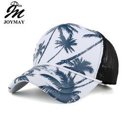 Sombreros de verano de la marca de Joymay para hombres y mujeres Gorro de sombreado Sombrero de coco de la gorra de béisbol de la impresión del árbol de coco B432 Sombrero de Chapeu transpirable B432 desde fabricantes
