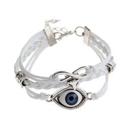 Wholesale Man Evil Eye Bracelet - Wholesale-2016 new evil eye charm bracelet Vintage Punk personalized Accessories leather bracelet men jewelry bracelets for women