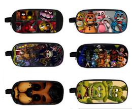 Wholesale Cartoon Deck - FNAF Five Nights at Freddy's Double-deck Bag Student School Pencil case