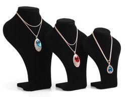 Canada Mode Noir Velours Bijoux stand Grand buste Collier bracelets Pendentif Affichage Diamant De Mariage Ensemble De Bijoux Titulaire Modèle Mannequin Offre