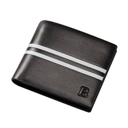 Wholesale gift cards business - wallets gifts for men 2017 business purse high quality PU lether men famous brand wallet black color