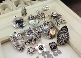 Wholesale Silver Articles Wholesale - Silver plated retro accessories set auger adorn article DIY manual accessories Used in the clothing headdress jewelry