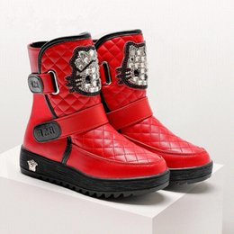 Wholesale Waterproof Boots For Girls - 2016 new children's waterproof snow boots non-slip thick keep warm comfortable boys girls cotton boots cute shoes for kids