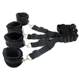Wholesale Hand Cuff Bdsm - Plush Slave erotic toy Under Bed Restraint Bondage Fetish Sex Products Hand & Ankle Cuff Bdsm Bondage Sex Toys For Couples Adult Games