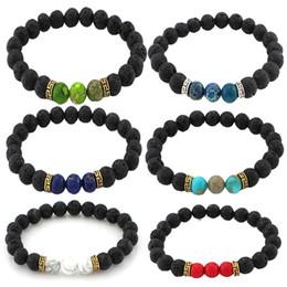 2019 indische armband-designs 9 Arten Lavastein Diffusor Armband Meditation Stabilität Innerer Frieden Klarheit Stressabbau Diffuse Ganzheitliche Yoga Aromatherapie N362S
