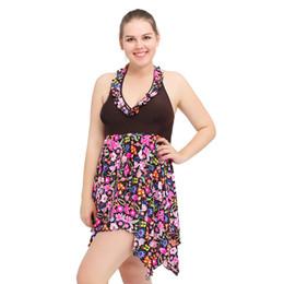 Wholesale Black High Waist Skirt Large - 2017 new Large Size Swimsuit female hot springs Swimsuit Plus fertilizer explosion one-piece skirt printed swimsuit