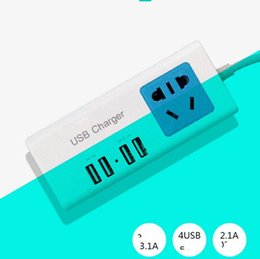 Wholesale Chinese Super Charger - Smart Power Strip US Plug 2 Outlet Surge Protector Power Stirp with 1A 2.1A 4 USB Super Charger Ports - White