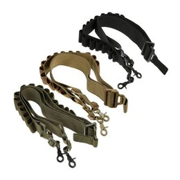 Wholesale Rifle Shooting Sports - Outdoor Sports Army Hunting Rifle Shooting Paintball Gear Airsoft Gun Lanyard Two Point Sling Tactical Multifunctional Strap SO12-010
