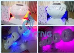 Wholesale Home Led Light Therapy Machine - 2017 New home spa salon use Photon Red Blue Infrared Red Light Therapy LED Skin Rejuvenation PDT Machine acne treatment facial care device