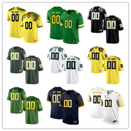 Wholesale Oregon Ducks Green - Custom Mens Oregon Ducks College Football Limited white black Apple Green Yellow Navy Personalized Stitched Any Name Number Jerseys S-3XL